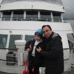 Apreciando a frente do barco