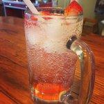 House made Strawberry Soda