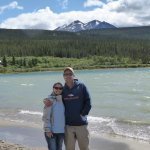 MY Daughter and son in law at Bennett Lake