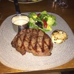 Excellent food. Had the Ribeye steak and I was not disappointed. Very nice atmosphere and super