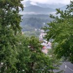 View of the Smokies and Bryson City from the porch