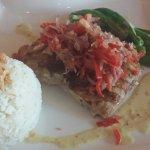 Perfectly prepared fish. Jasmine rice. Mild sauce.