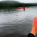 My daughter kayaking, Lake Parlin