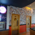 The new ice cream parlour and picture wall