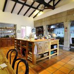 The amazing main kitchen of the villa