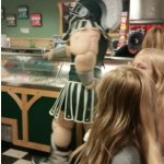 Surprise Visit from SPARTY while we were there!