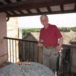 Our room had a balcony overlooking the tiny town of Civitella d'Agliano.