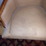 Stain on chair in the room
