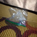 Used ziplock bag next to the side of bed