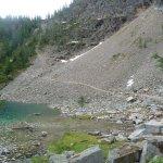 Agnes Lake above Lake Louise - trail to Bee hive