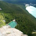 Lake Louise and Lake Agnes from the top of Bee Hive