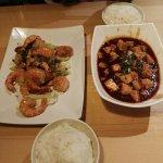 Prawns and Mapo Tofu