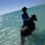 HOrseback riding in the wonderful water!