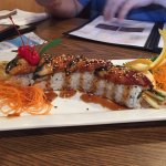This was a nice surprise! We ordered the sushi (see pic) and it was delicious !! I had the pinea