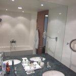 showing the bath tub