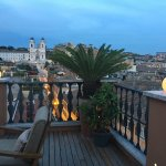 terrace view od via condotti-spanish steps
