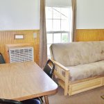 Seating area of large cabin