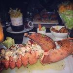 Lobster , vanilla ice cream