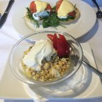 Eggs Benedict and Bircher Museli Breakfast