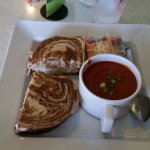 Turkey Reuben and Tomato Basil Soup at McAlister's Deli Lansing Eastwood Towne Center