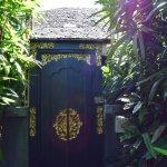 Entrance to the garden villa