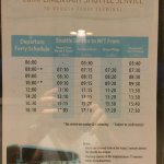 Complimentary shuttle to ferry terminal schedule