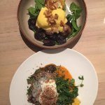 Potato rosti and wild mushrooms
