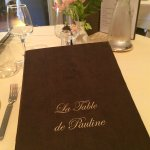 "Le menu "" La table de Pauline """
