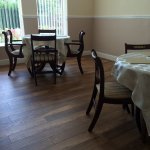 Our new dinning room! Decorating provided by Eric Fairfield, great job! Flooring supplied by Mer