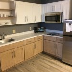 Full kitchen in suite, updated appliances
