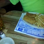 Cod fish and fries and 1.50 drafts beer , no where can you find that