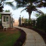 walkway leading to the beach