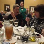 Mel and Michele enjoying dinner