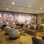 Hotel Lobby. Wall Mural is made entirely of photos pieced together for this artistic wall piece