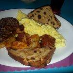 Hearty egg breakfast.