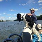 Dogs welcome on the boats which is always a plus for us.