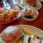 veggie burgers and fries