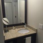 Sink outside of bathroom