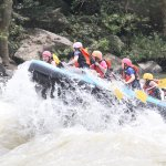 One pic of our experience captured by the onshore photographers while rafting