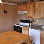 Kitchen in the Deer Crossing cabin (#7)