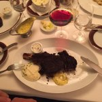 Try stake, that's the signature dish and very delicious! Shows are every half an hour and they c