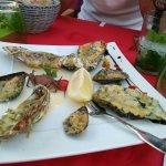 Moules et huîtres gratiné