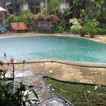 Rain over the pool