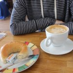 Latte and cuminkorn bun