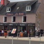 Vue extérieure, le restaurant donne sur la plage