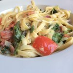 BC smoked salmon fettuccine $8.95