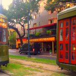 The St. Charles trolley stops right at the door.