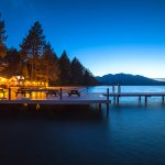 Pier at Camp Richardson at nightfall