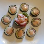 Specialty rolls made with cucumber instead of nori
