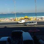 Vista da praia a partir do restaurante.